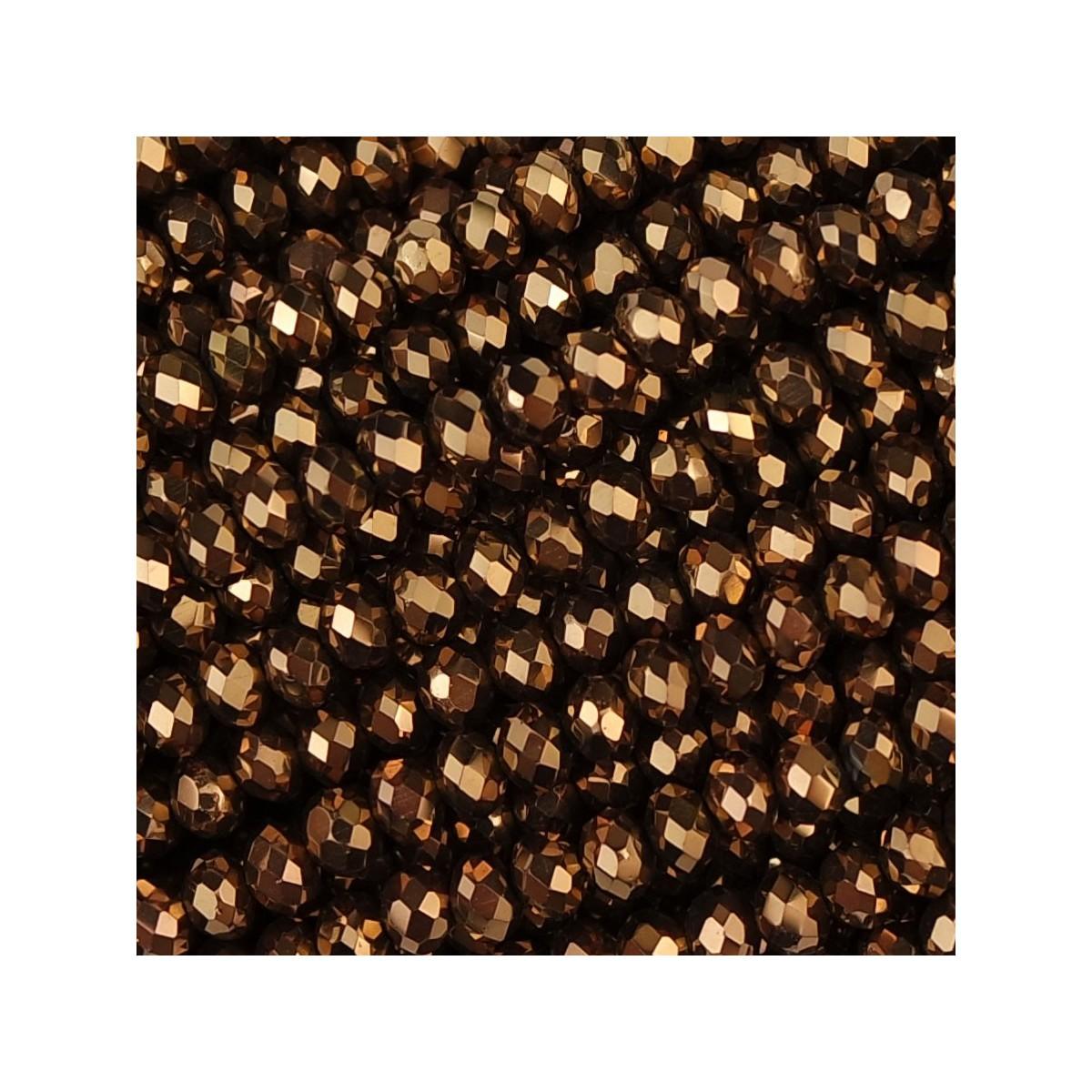 Rondelle in Cristallo Sfaccettato 3x2,5mm brown ab2x