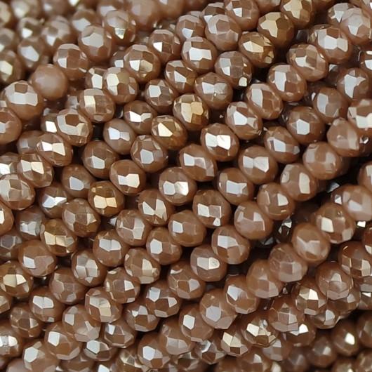 Rondelle in Cristallo Sfaccettato 3x2,5mm caramello