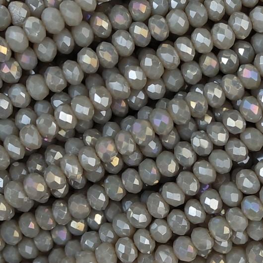 Rondelle in Cristallo Sfaccettato 3x2,5mm conchiglia