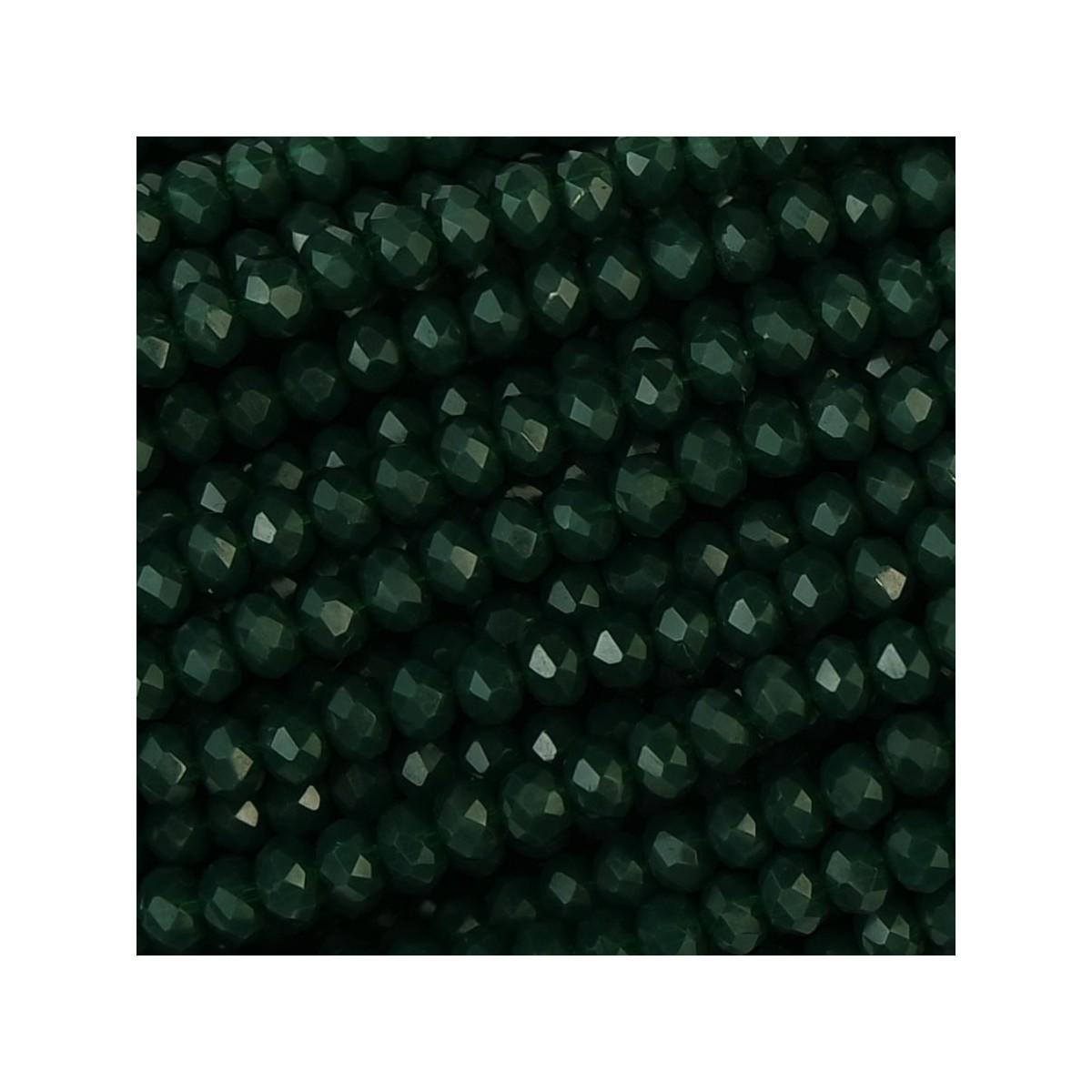 Rondelle in Cristallo Sfaccettato 3x2,5mm forest