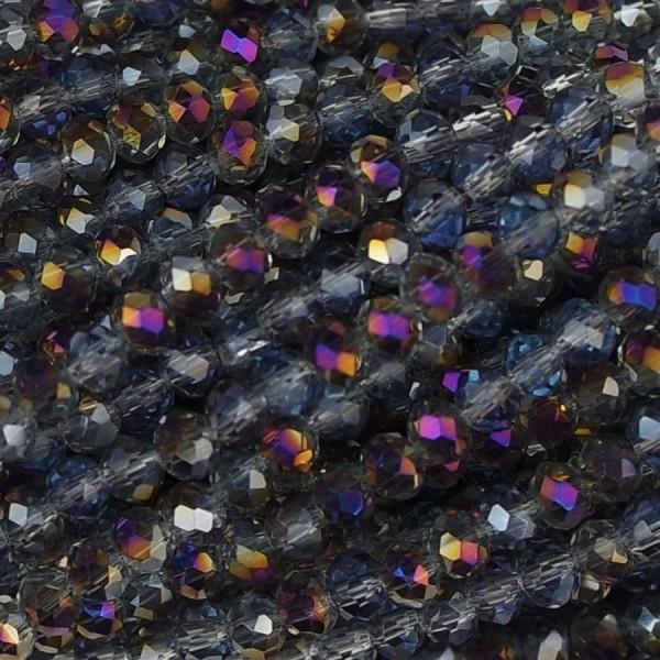 Rondelle in Cristallo Sfaccettato 3x2,5mm fulmine