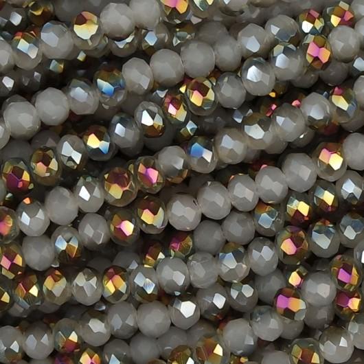 Rondelle in Cristallo Sfaccettato 3x2,5mm qashqai
