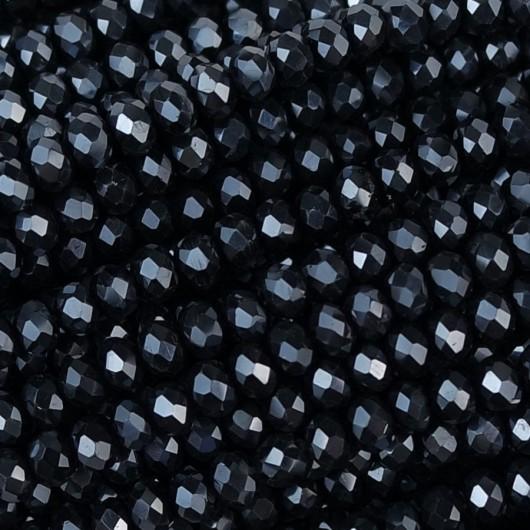 Rondelle in Cristallo Sfaccettato 3x2,5mm lavagna