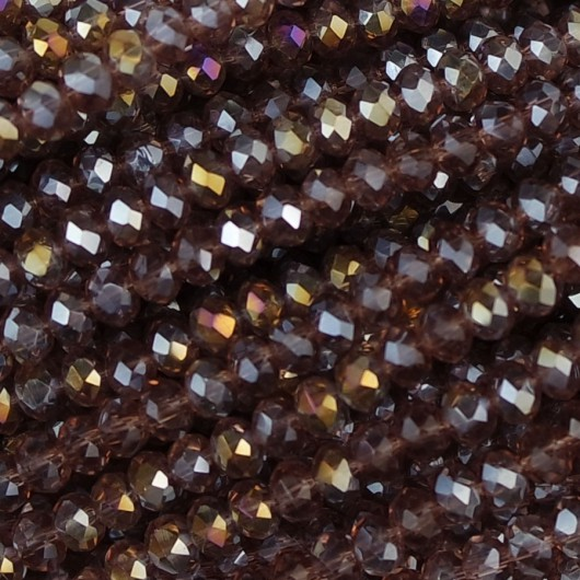 Rondelle in Cristallo Sfaccettato 3x2,5mm light amethyst ab