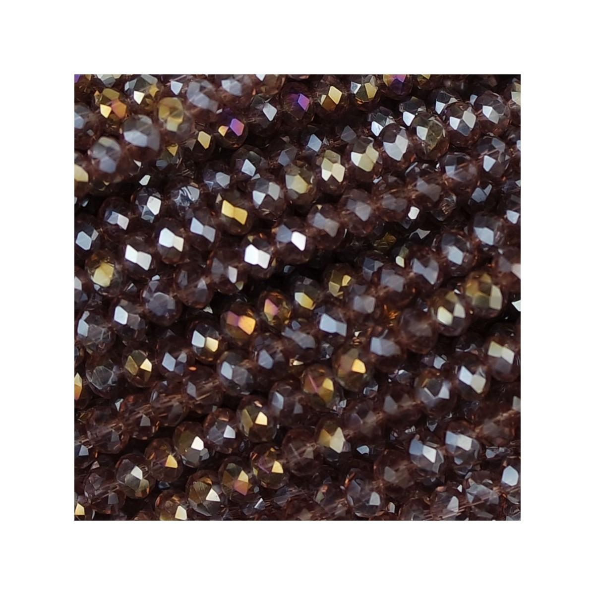 Rondelle in Cristallo Sfaccettato 3x2,5mm light amethyst ab