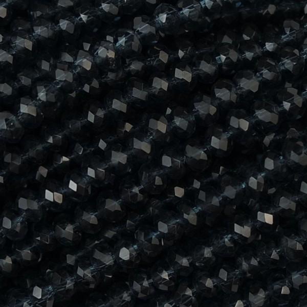 Rondelle in Cristallo Sfaccettato 3x2,5mm montana