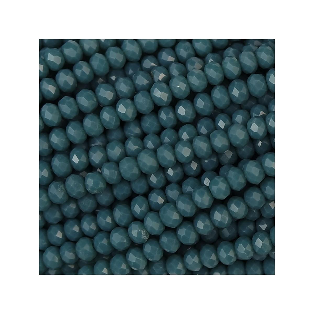 Rondelle in Cristallo Sfaccettato 3x2,5mm ocean