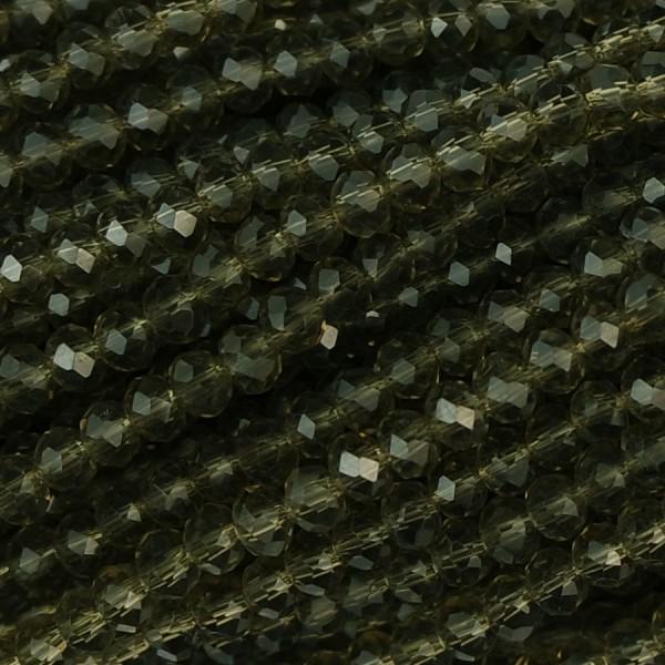 Rondelle in Cristallo Sfaccettato 3x2,5mm olivine crystal