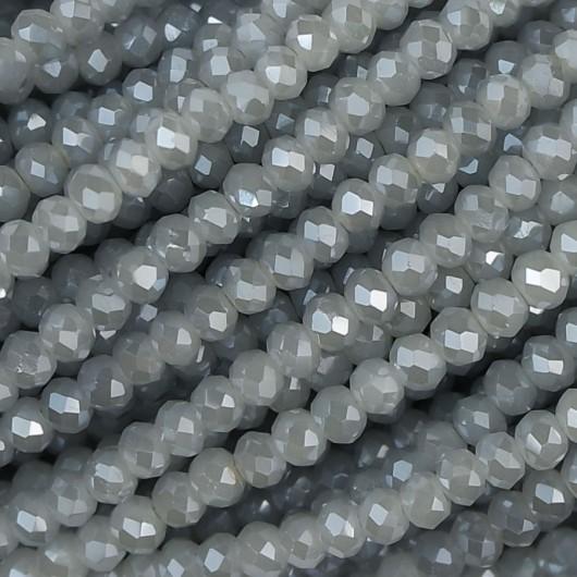 Rondelle in Cristallo Sfaccettato 3x2,5mm pearl