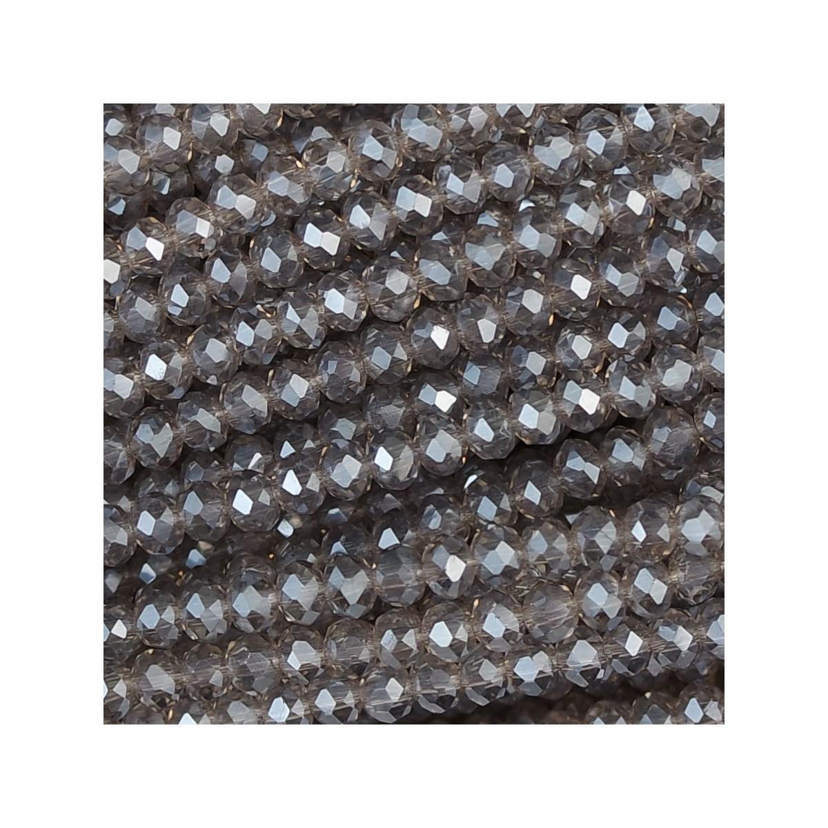 Rondelle in Cristallo Sfaccettato 3x2,5mm violet