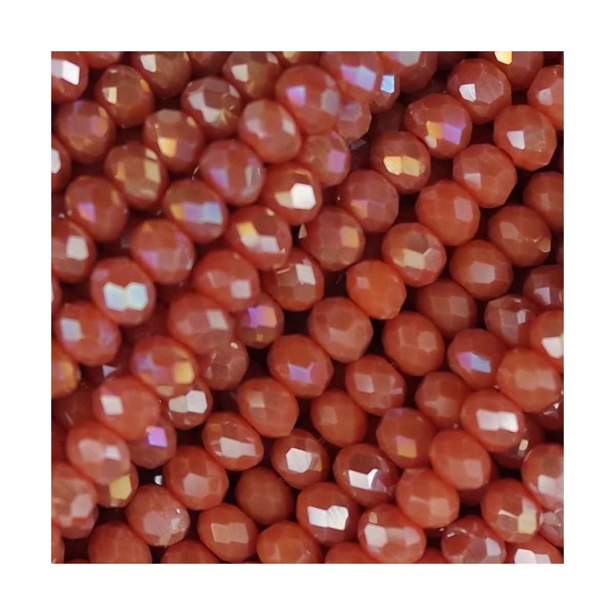 Rondelle in Cristallo Sfaccettato 4x3mm anguria