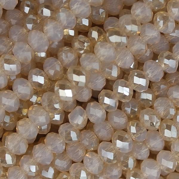 Rondelle in Cristallo Sfaccettato 4x3mm anna flash gold