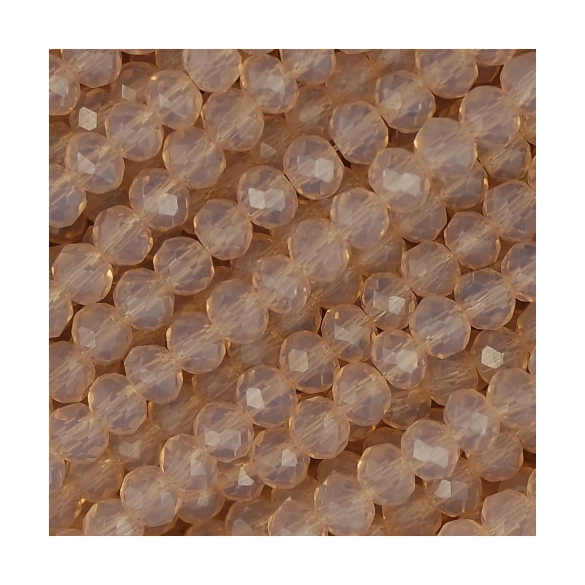 Rondelle in Cristallo Sfaccettato 4x3mm anna