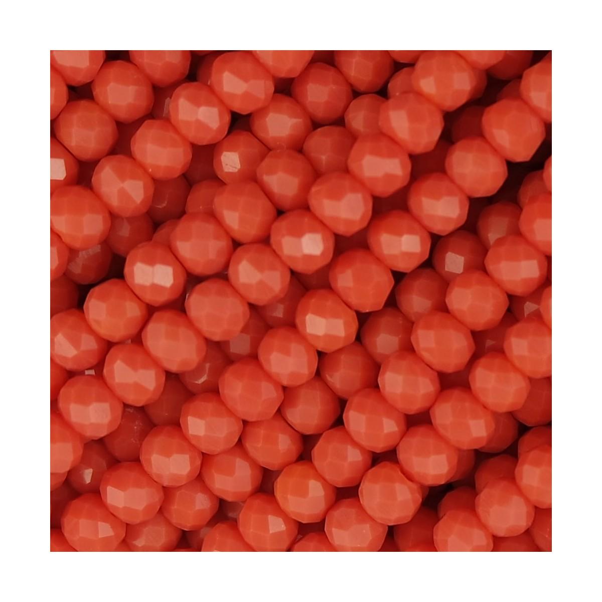 Rondelle in Cristallo Sfaccettato 4x3mm aragosta