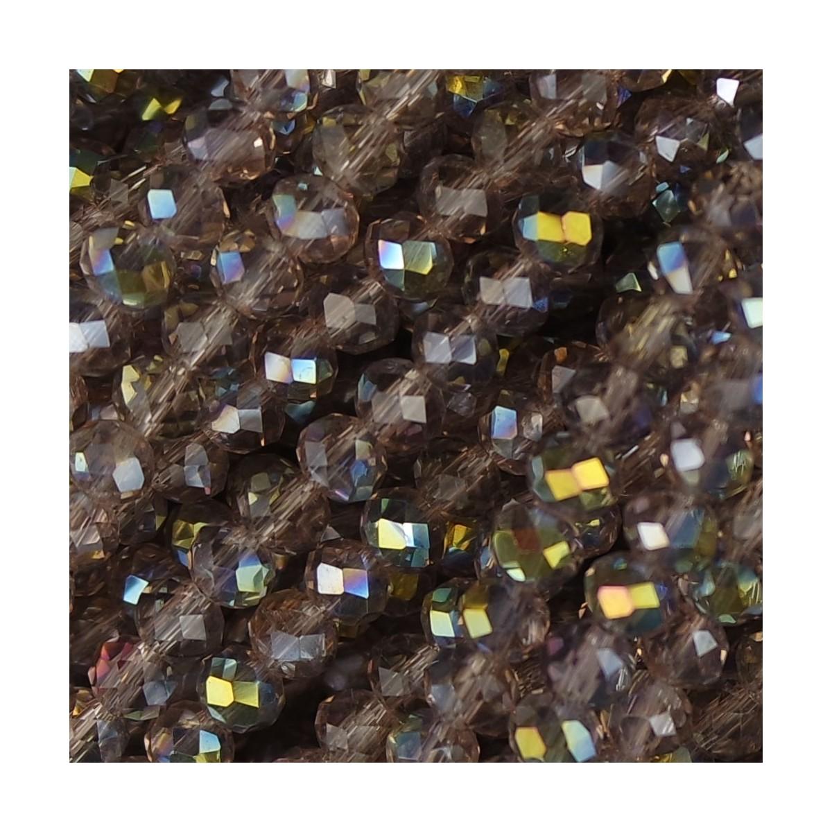 Rondelle in Cristallo Sfaccettato 4x3mm biondo ab