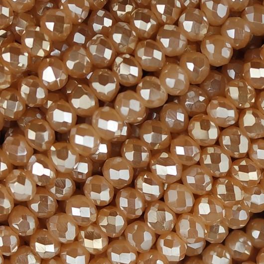 Rondelle in Cristallo Sfaccettato 4x3mm conchiglia