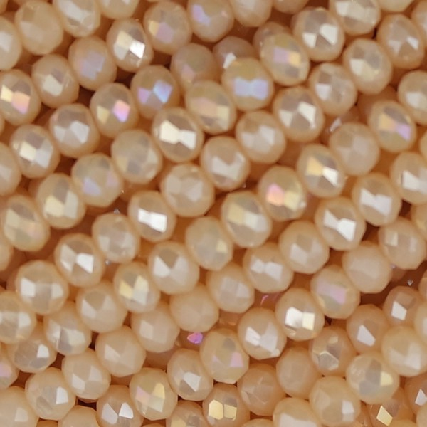 Rondelle in Cristallo Sfaccettato 4x3mm cream