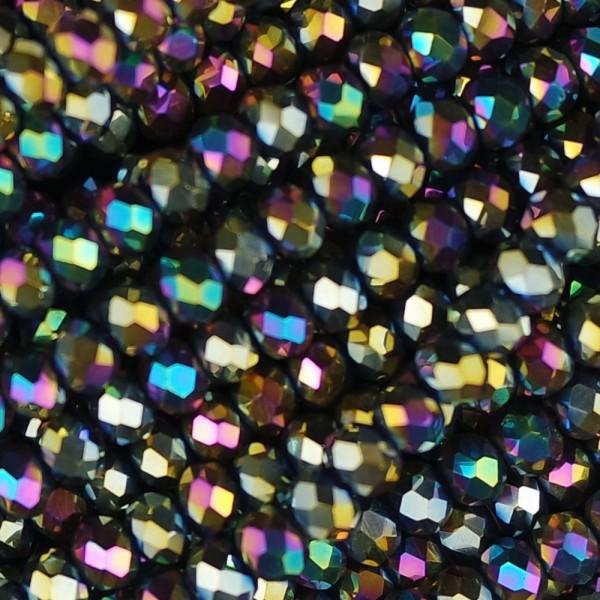 Rondelle in Cristallo Sfaccettato 4x3mm disco