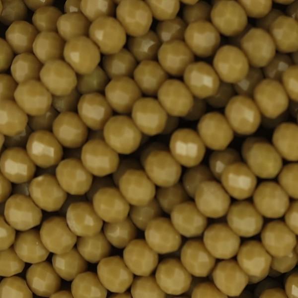Rondelle in Cristallo Sfaccettato 4x3mm kaki