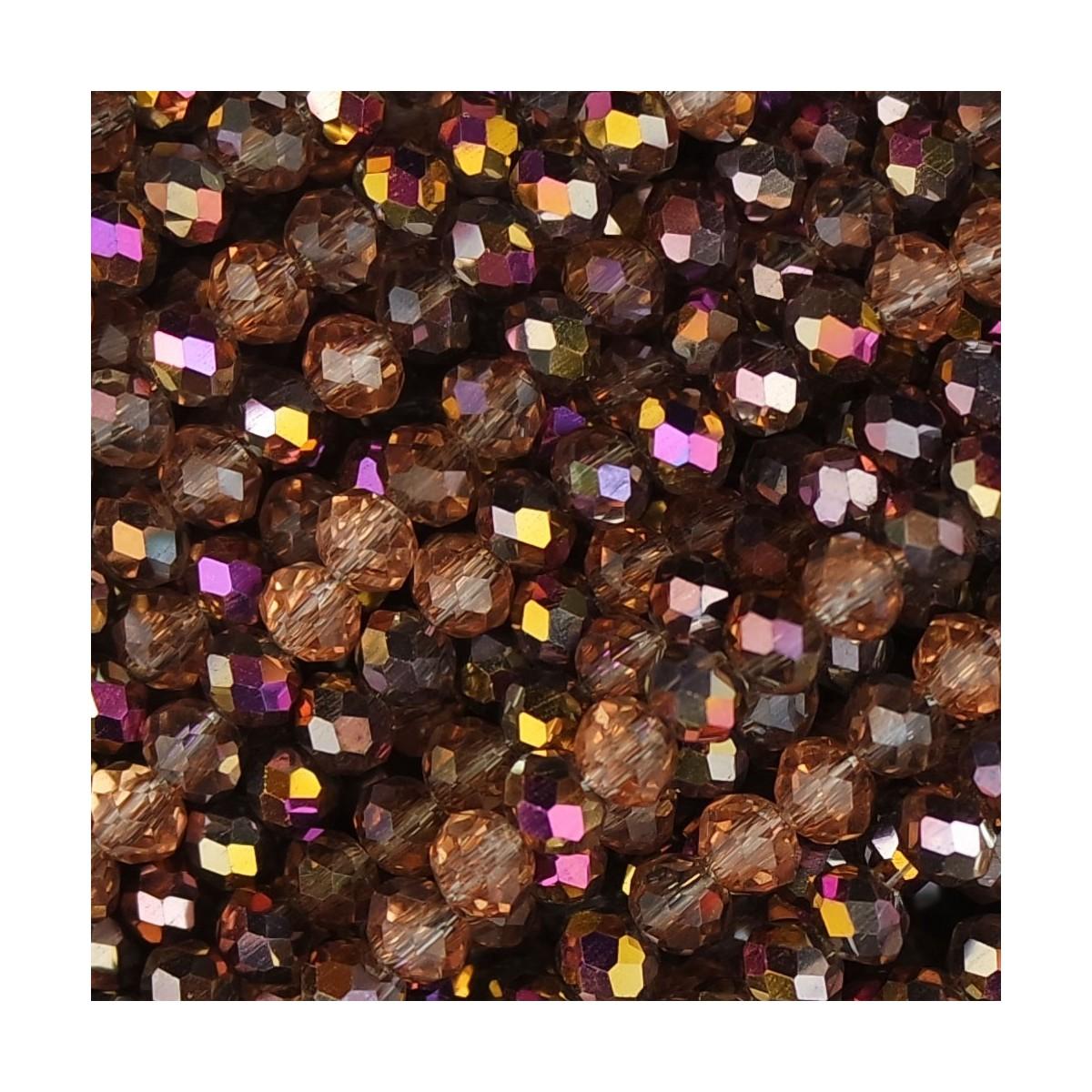 Rondelle in Cristallo Sfaccettato 4x3mm mosaico