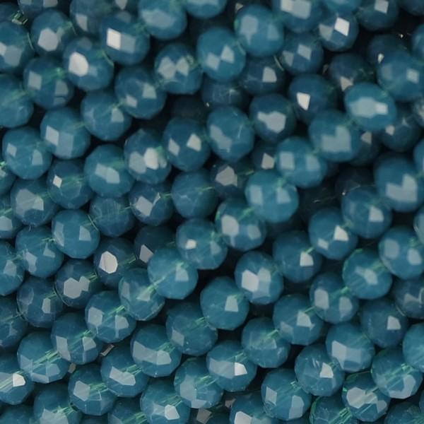 Rondelle in Cristallo Sfaccettato 4x3mm ocean