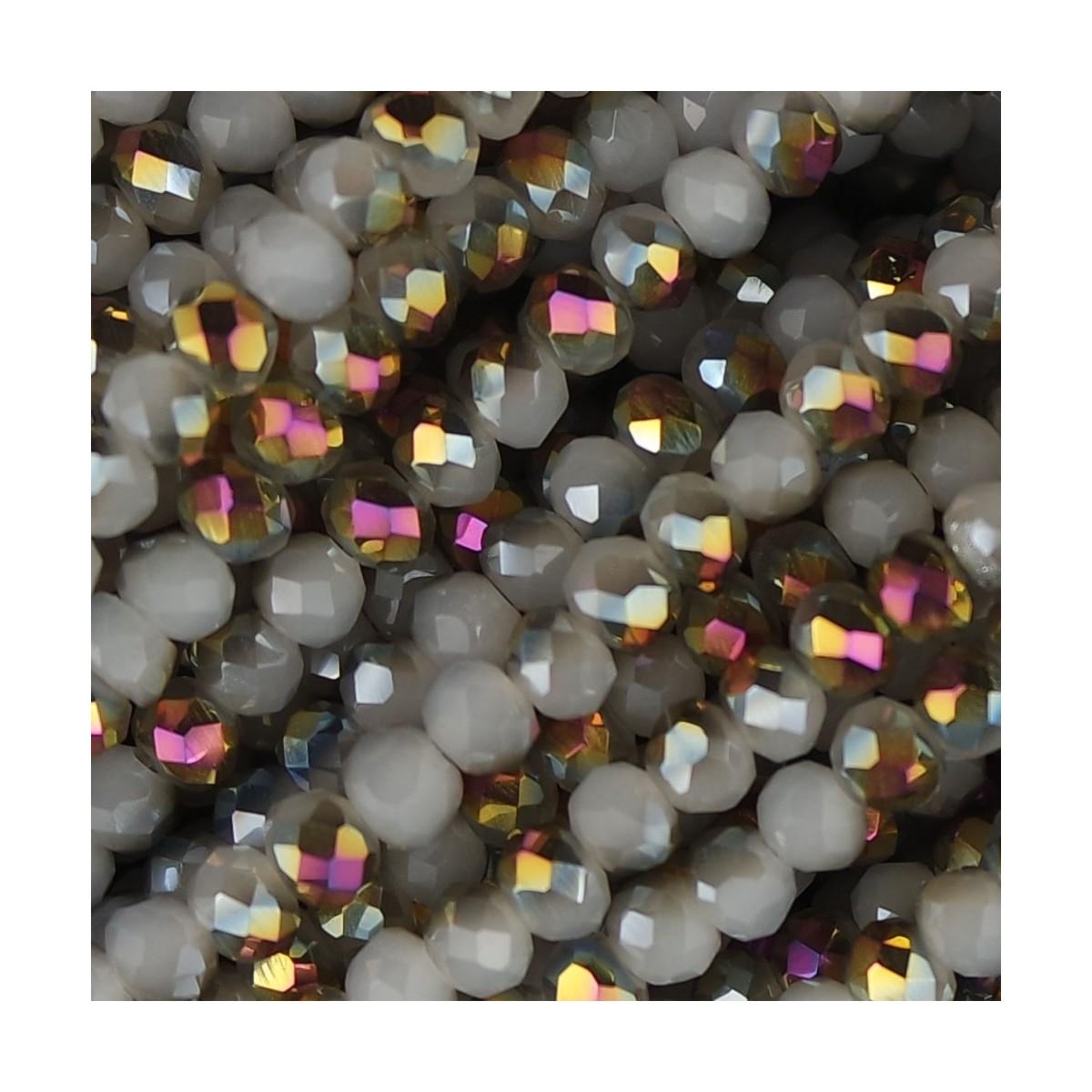 Rondelle in Cristallo Sfaccettato 4x3mm qashqai