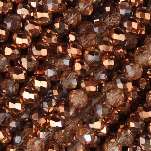 Rondelle in Cristallo Sfaccettato 4x3mm rose gold