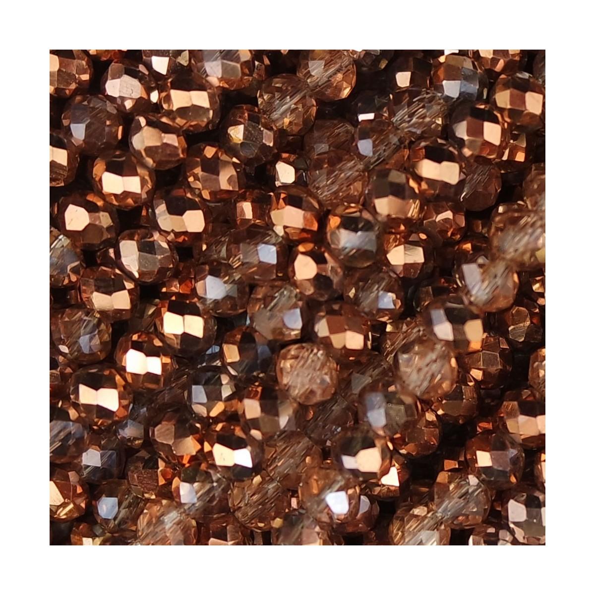 Rondelle in Cristallo Sfaccettato 4x3mm rose gold