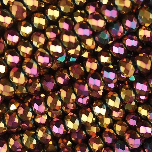 Rondelle in Cristallo Sfaccettato 4x3mm vanylla sky