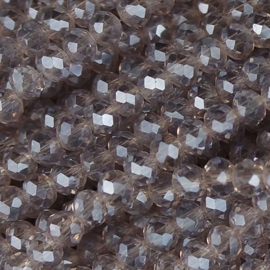 Rondelle in Cristallo Sfaccettato 4x3mm violet