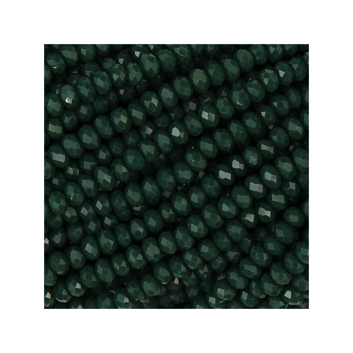 Rondelle in Cristallo Sfaccettato 2 x 2,5 mm Forest