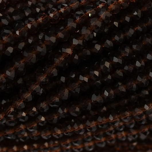 Rondelle in Cristallo Sfaccettato 2 x 2,5 mm brown