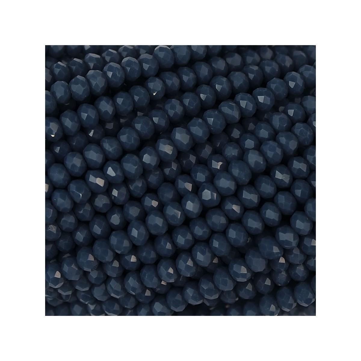 Rondelle in Cristallo Sfaccettato 2 x 2,5 mm opal jeans