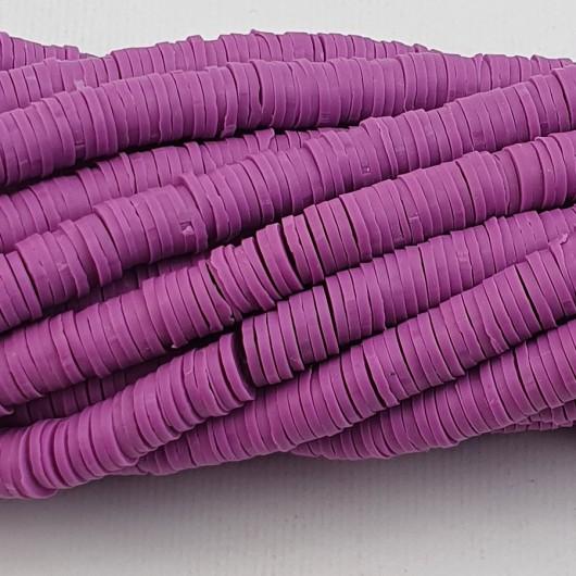 Perline Heishi in pasta Polimerica - viola