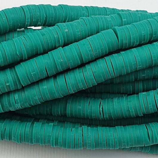 Perline Heishi in pasta Polimerica - verde