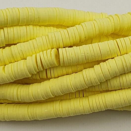 Perline Heishi in pasta Polimerica - giallo