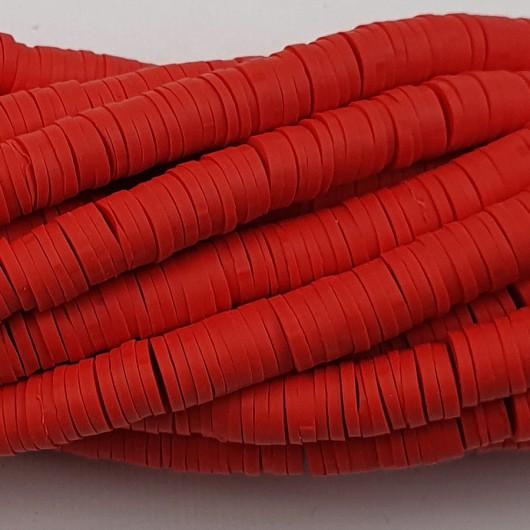 Perline Heishi in pasta Polimerica - rosso