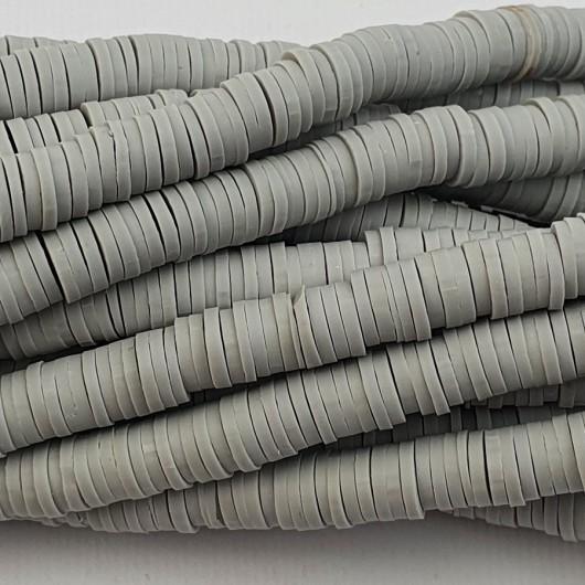 Perline Heishi in pasta Polimerica - grigio scuro