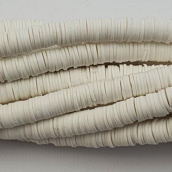 Perline Heishi in pasta Polimerica - panna