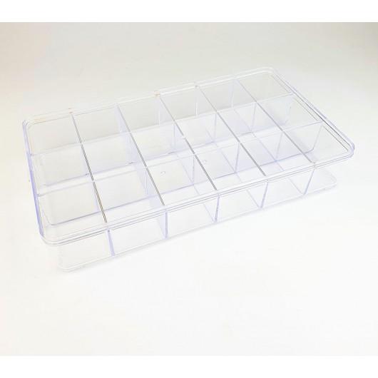 Contenitore perline Expo in plexiglass 18 scomparti