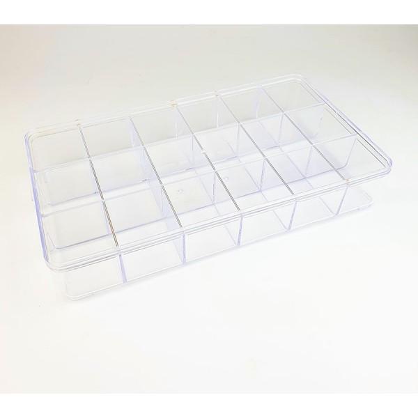 Contenitore perline trasparente in plexiglass