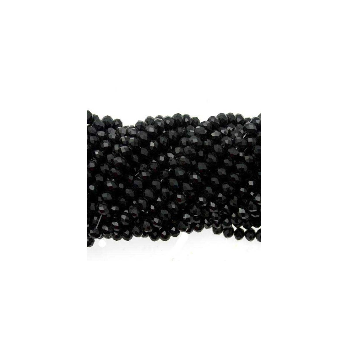 Rondelle in Cristallo Sfaccettato 4x3mm Black