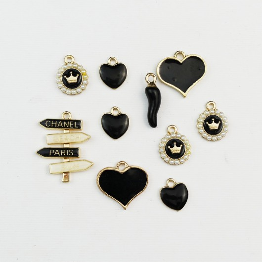 Set di charms assortiti BLACK