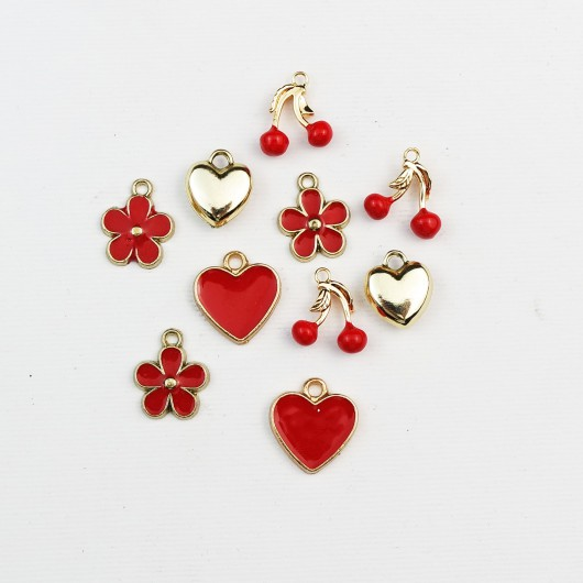Set di charms assortiti LOVE