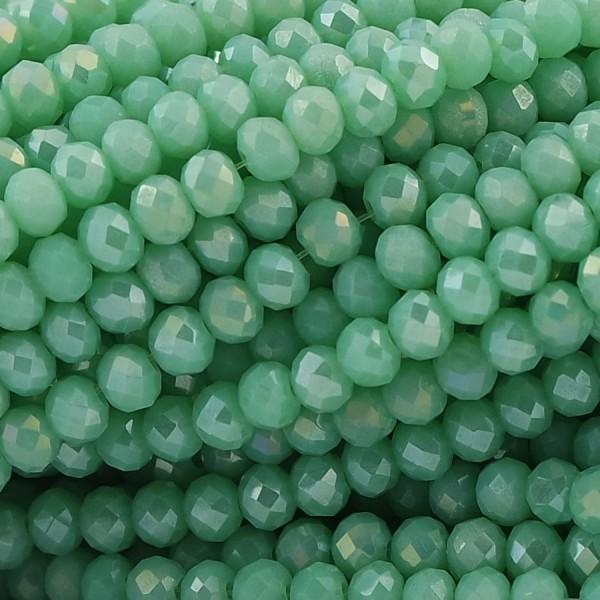Rondelle in Cristallo Sfaccettato 4x3mm MALDIVE