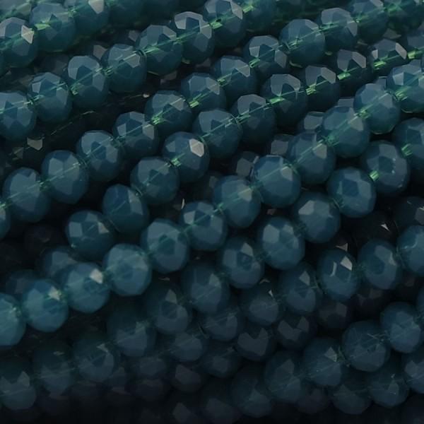 Rondelle in Cristallo Sfaccettato 4x3mm TEAL