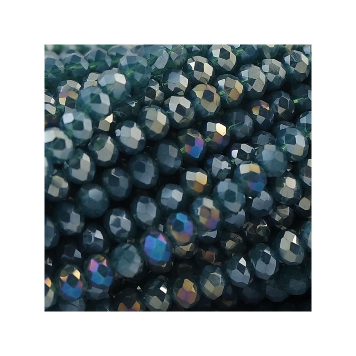 Rondelle in Cristallo Sfaccettato 4x3mm TROPICAL FOREST