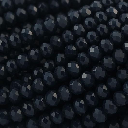 Rondelle in Cristallo Sfaccettato 4x3mm INDIGO