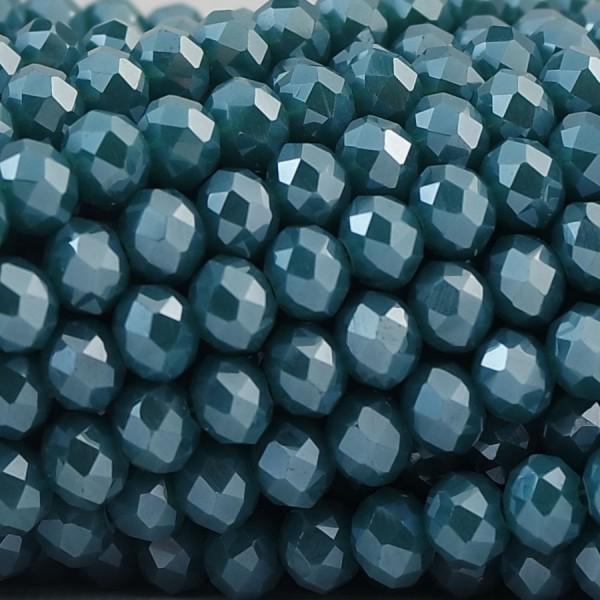 Rondelle in Cristallo Sfaccettato 6x4mm TROPICAL FOREST