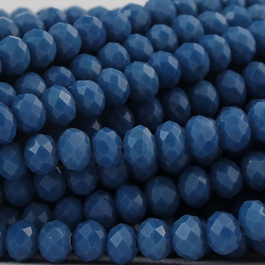 Rondelle in Cristallo Sfaccettato 6x4mm ATLANTIC BLUE
